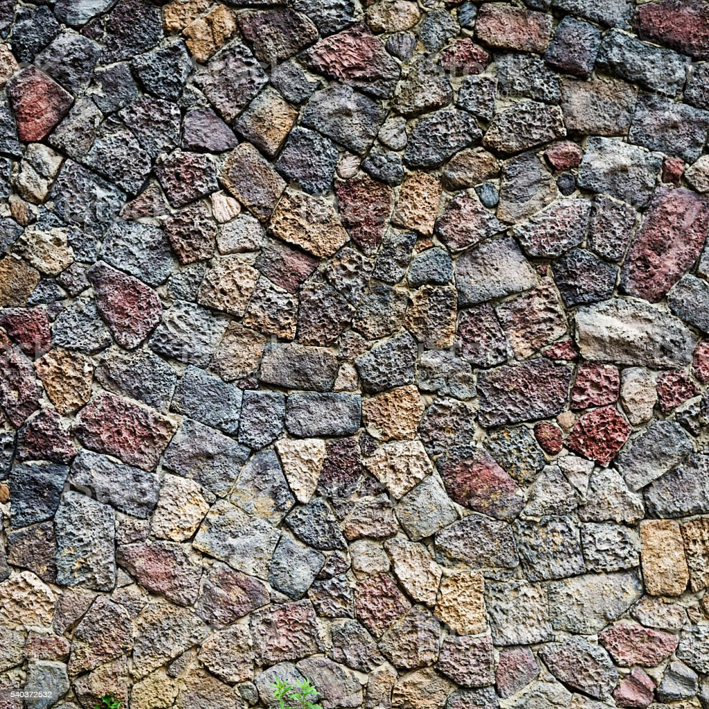 Old stone wall for background stock photo