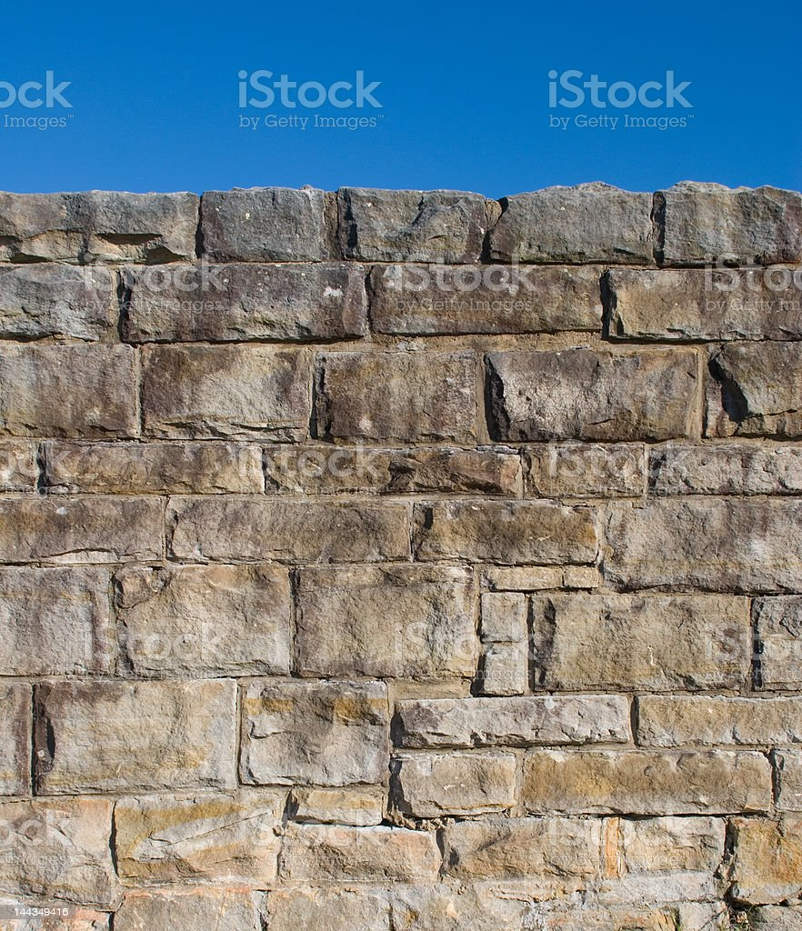 Old Stone Wall in Sydney Australia royalty-free stock photo