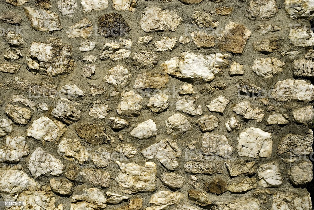 Old Stone Wall on a Farm royalty-free stock photo