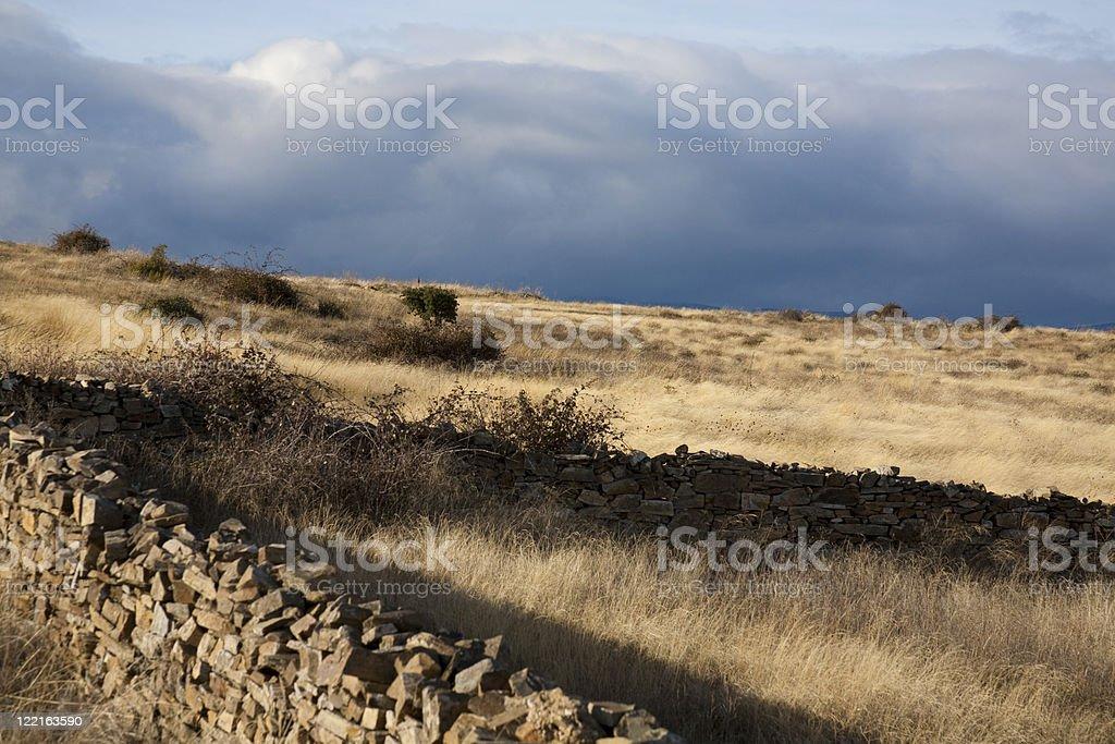 Old stonewalls stock photo
