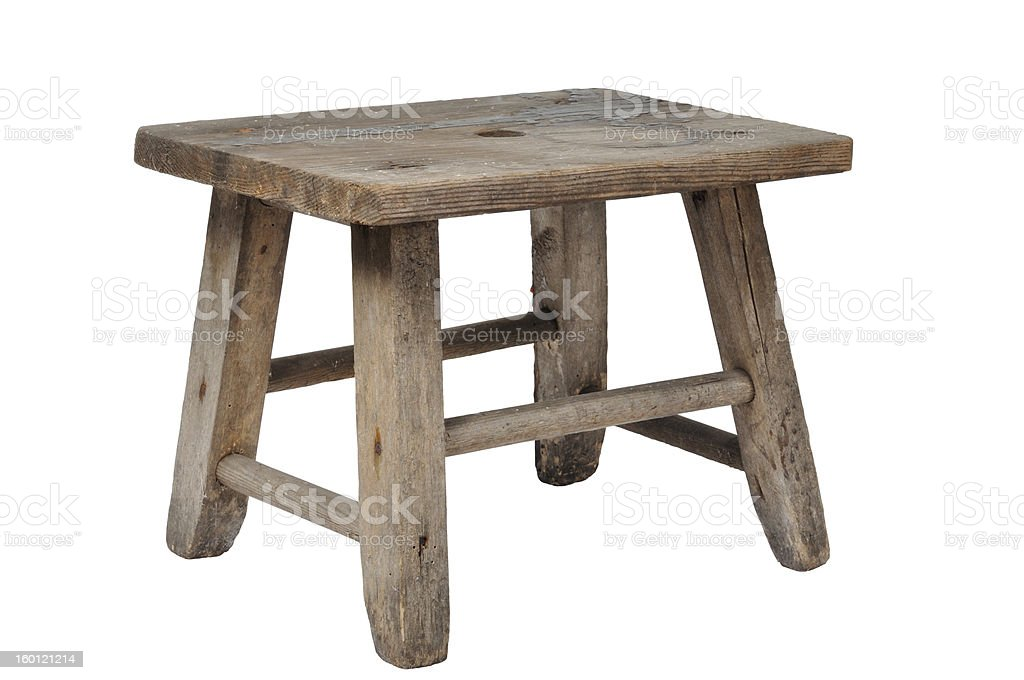 Old Stool stock photo
