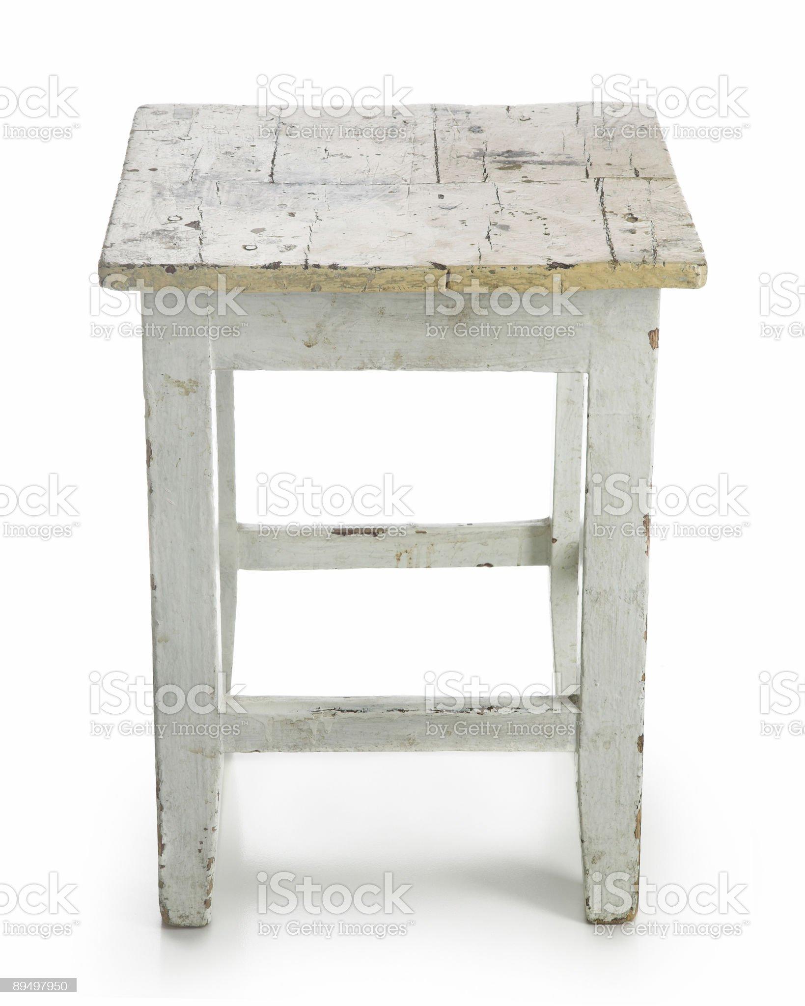 Old stool royalty-free stock photo