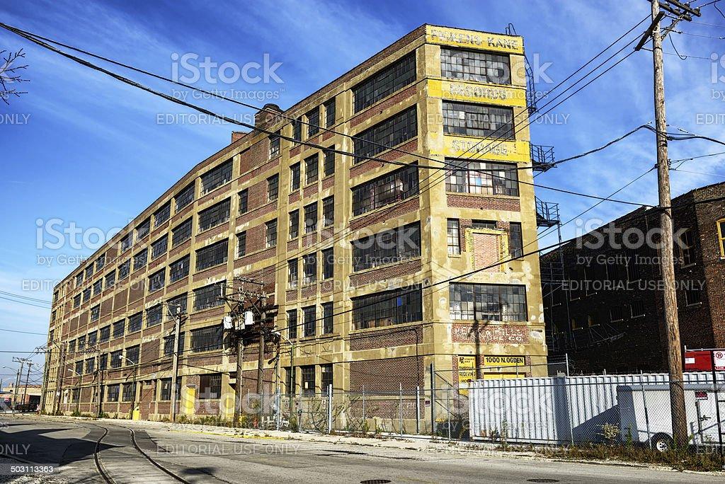 Old Storage facility, Goose Island, Chicago royalty-free stock photo