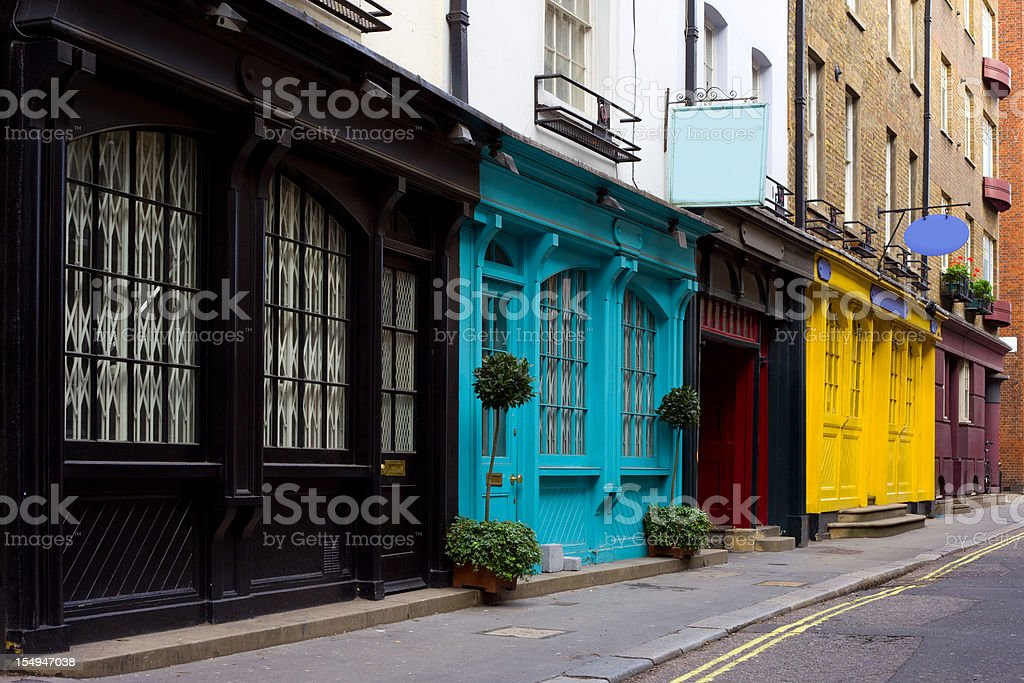 Old Store Fronts, London, England, UK stock photo