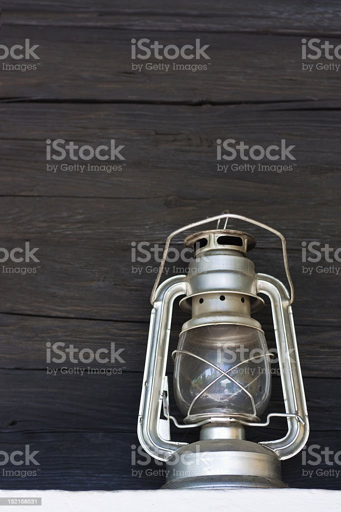 Old storm hand lamp royalty-free stock photo