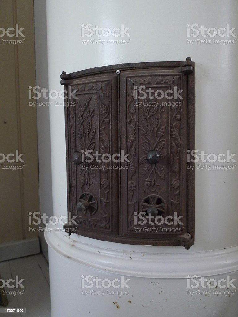 old stove door royalty-free stock photo