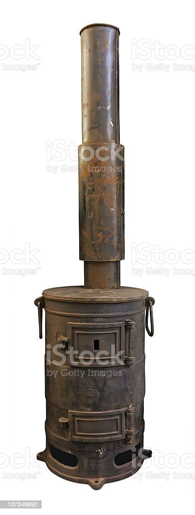Old stove with chimney royalty-free stock photo