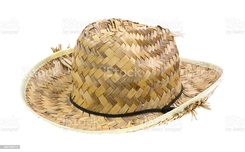 Old straw hat stock photo