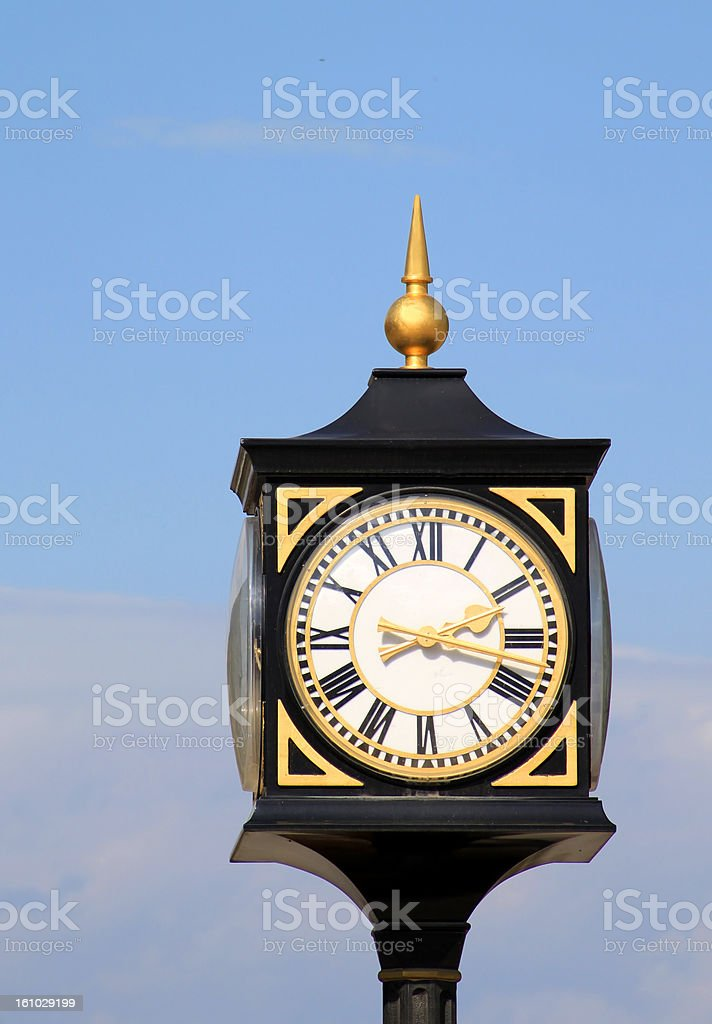 Old street clock in Tbilisi, Georgia royalty-free stock photo