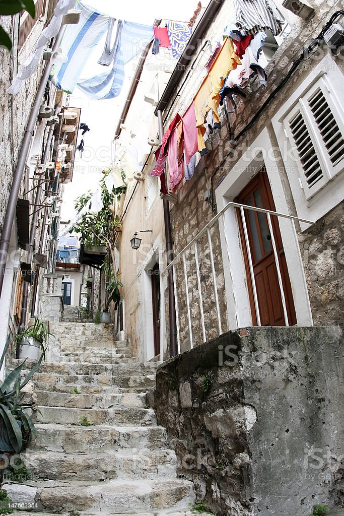 Old street in Dubrovnik royalty-free stock photo