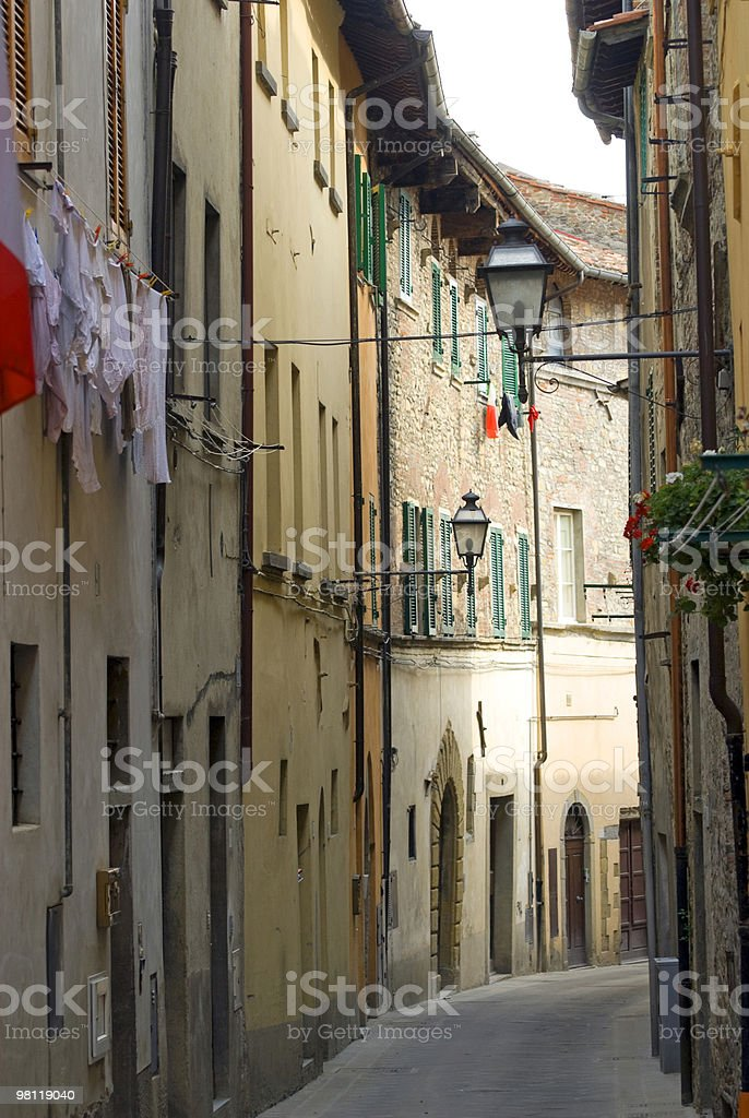 Old street in Sansepolcro (Tuscany) royalty-free stock photo