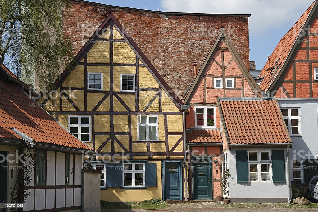 Old street in Stralsund royalty-free stock photo