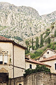 old street in the city of Kotor. Montenegro