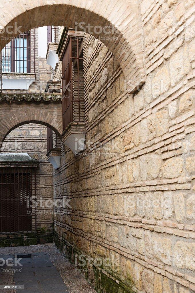 Old street in the Juderia in Cordoba stock photo