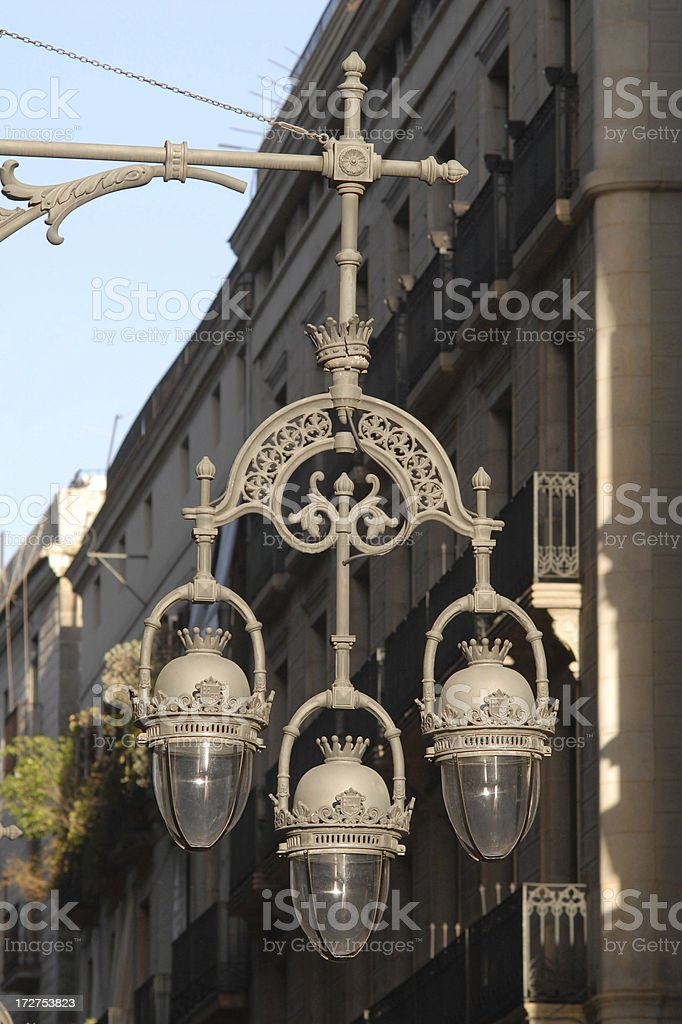 old street lamp in Barcelona royalty-free stock photo