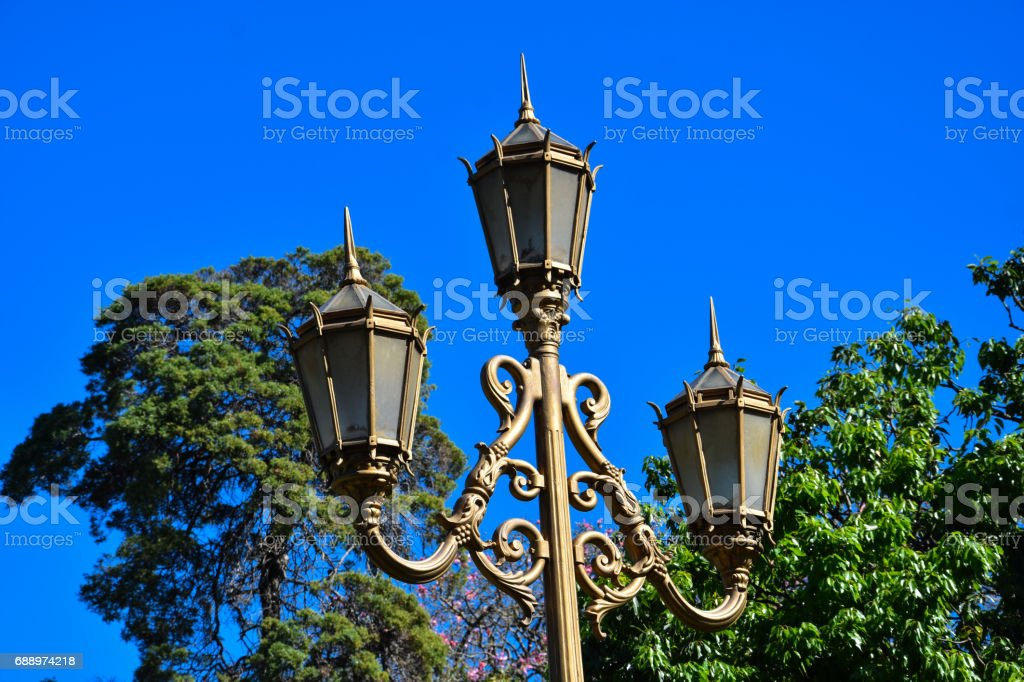 Old Street Lamp in Recoleta, Buenos Aires stock photo