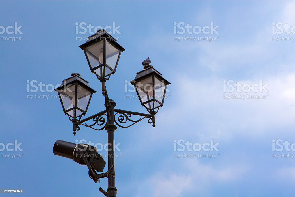 Old street lantern stock photo