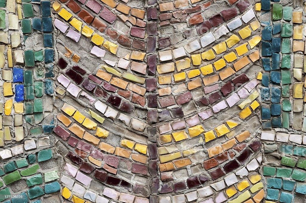 Old street mosaic royalty-free stock photo