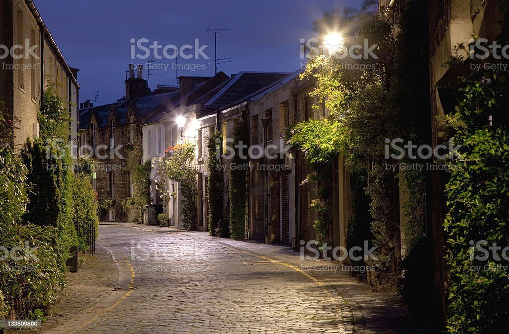 Old Street of European City royalty-free stock photo