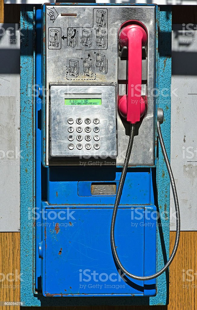Old street phone stock photo