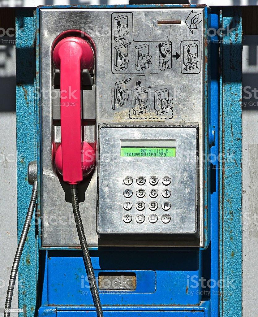 Old street phone stock photo