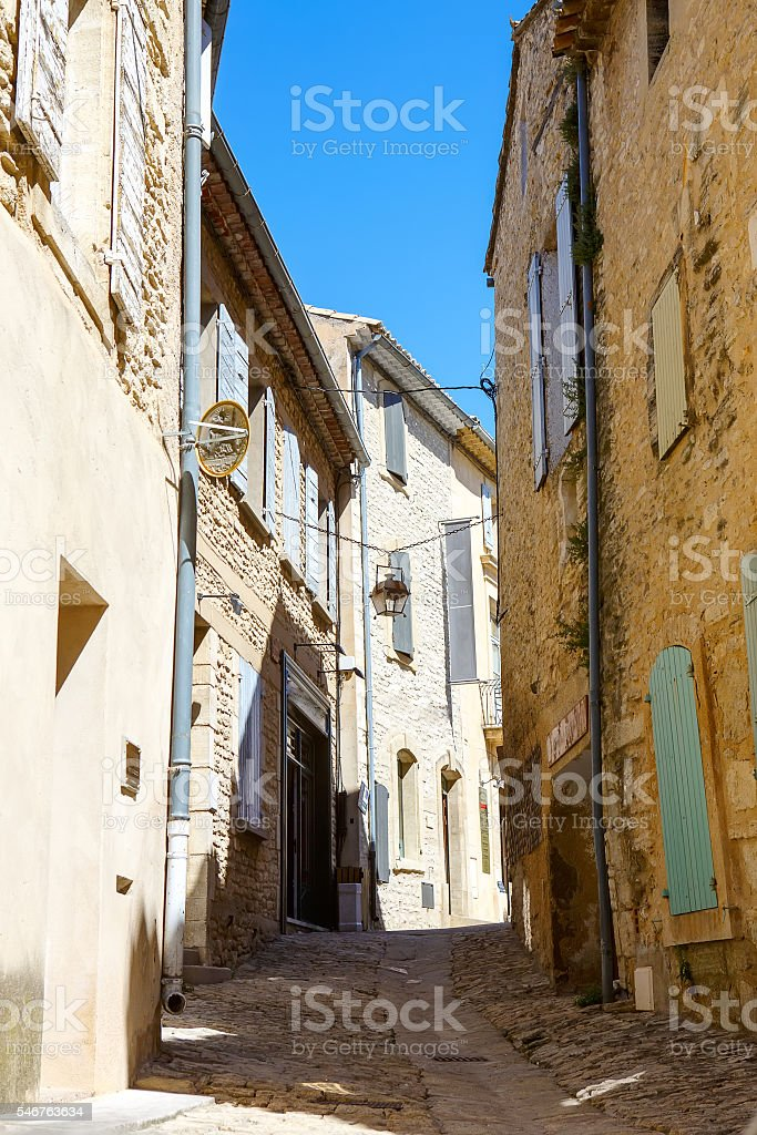 Old streets of Gordes,  town in Provence, France stock photo