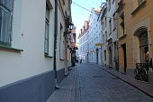 Old streets of Riga.