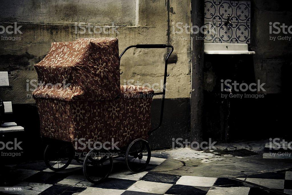 Old stroller stock photo