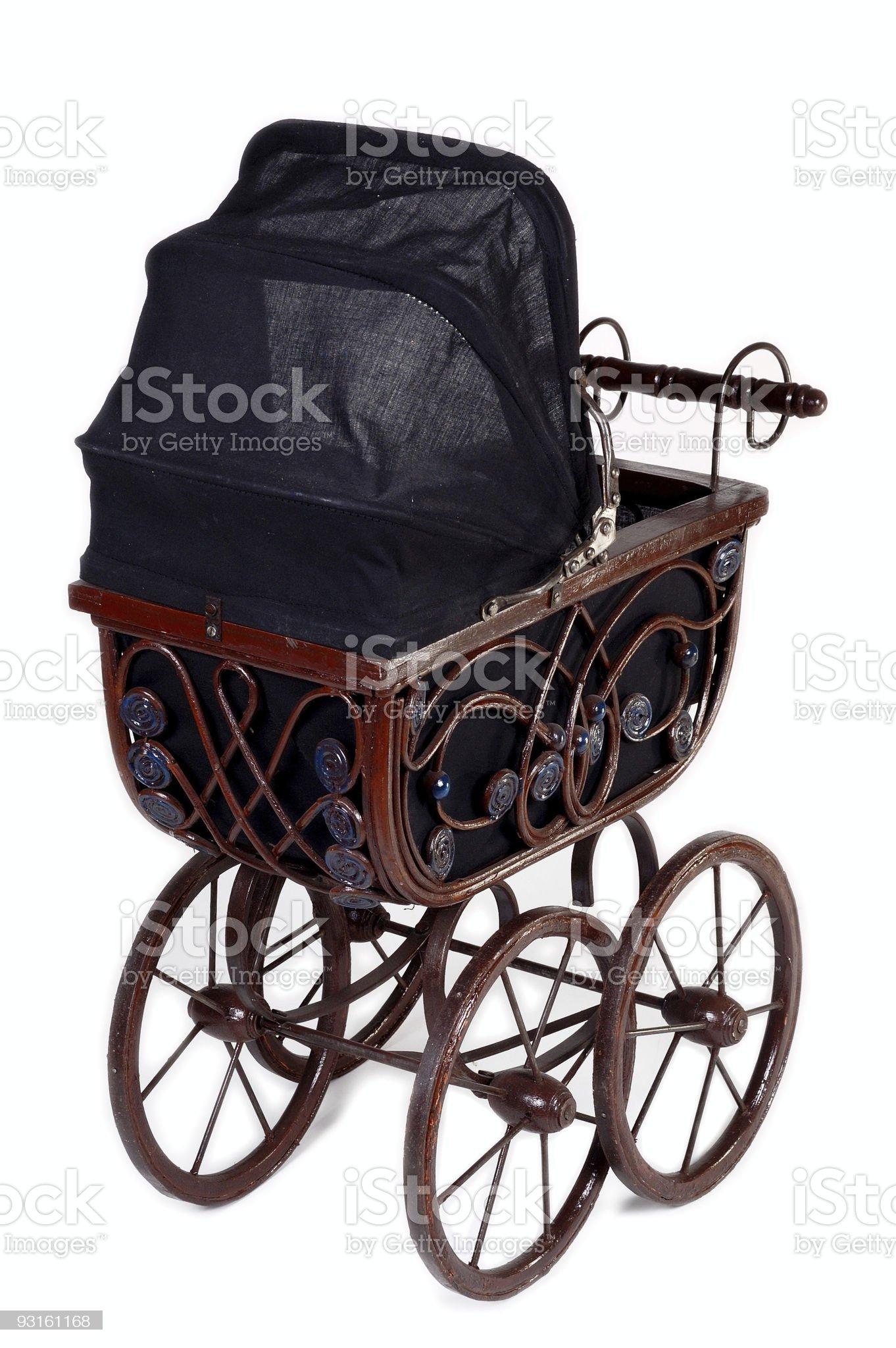 Old stroller v2. royalty-free stock photo