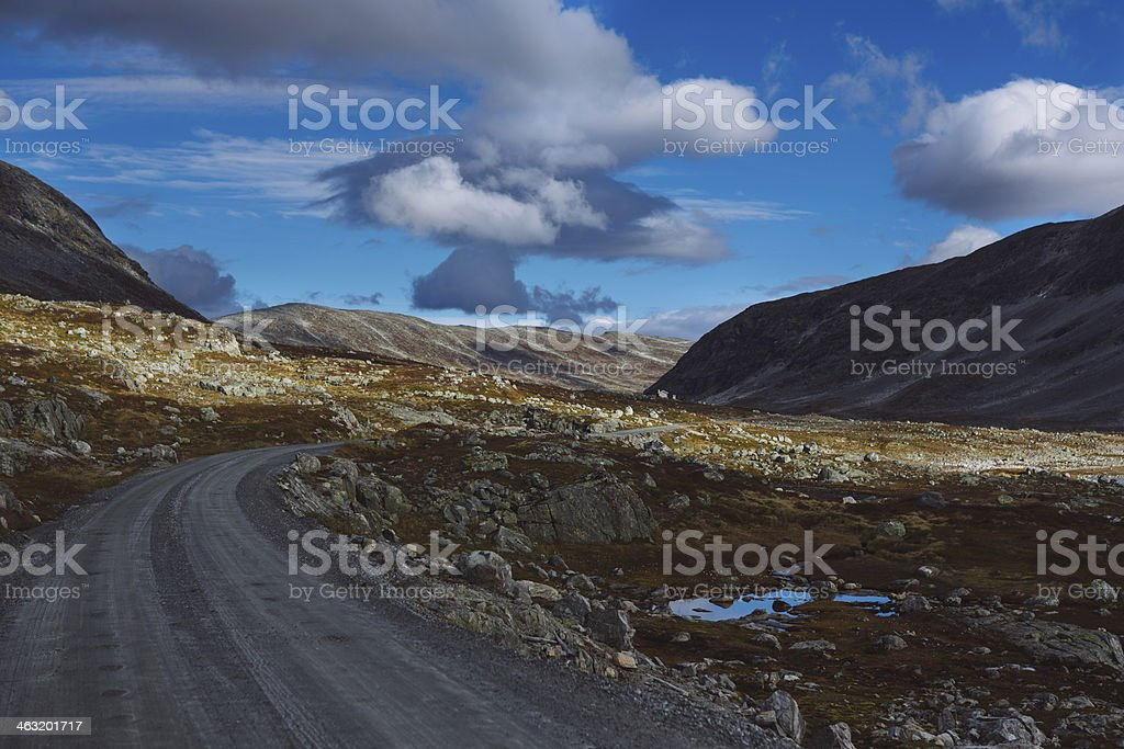 Old Strynefjell Mountain Road, Norway stock photo
