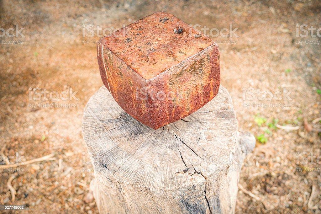 Old Stump Anvil stock photo