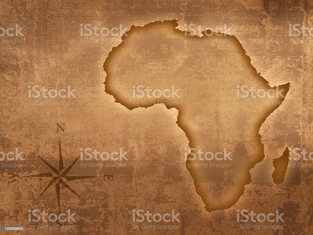 Old style Africa map stock photo