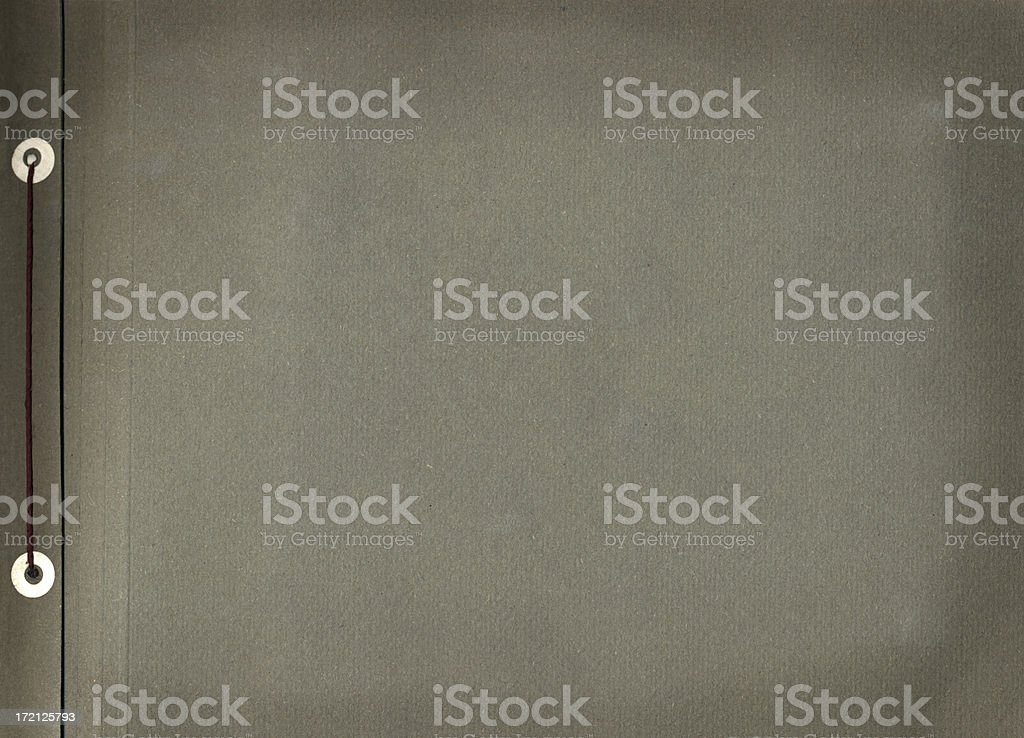 Old style album back cover stock photo