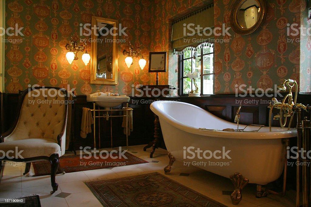 Old Style Bathroom stock photo
