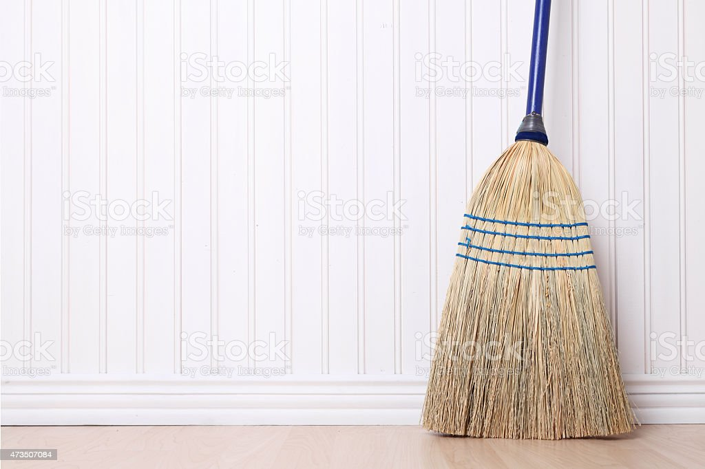 Old Style Broom stock photo