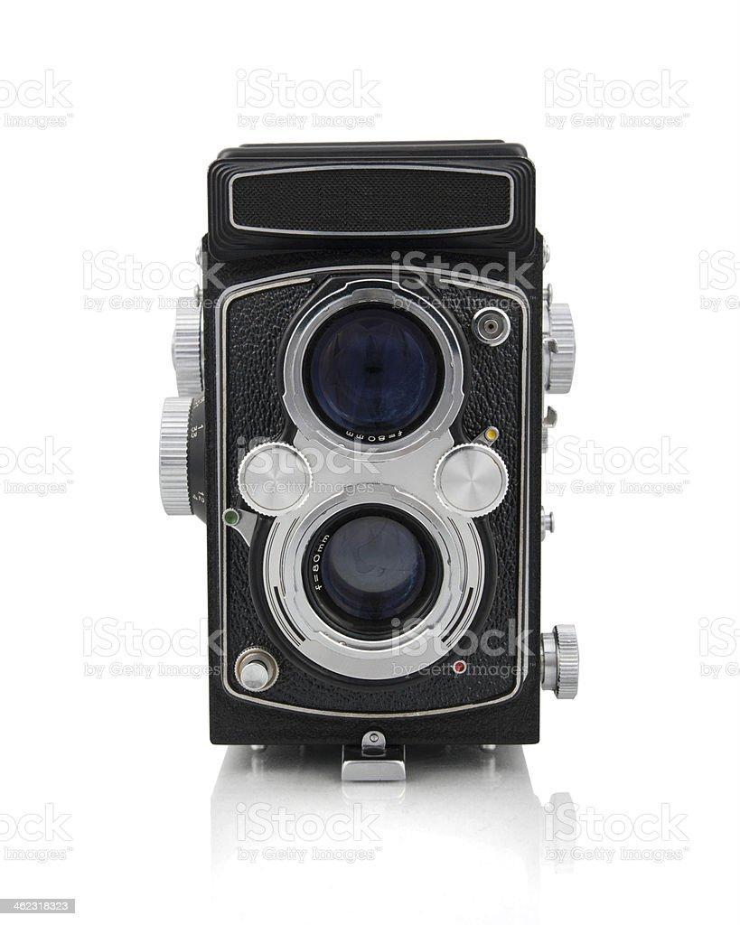 Old style camera stock photo