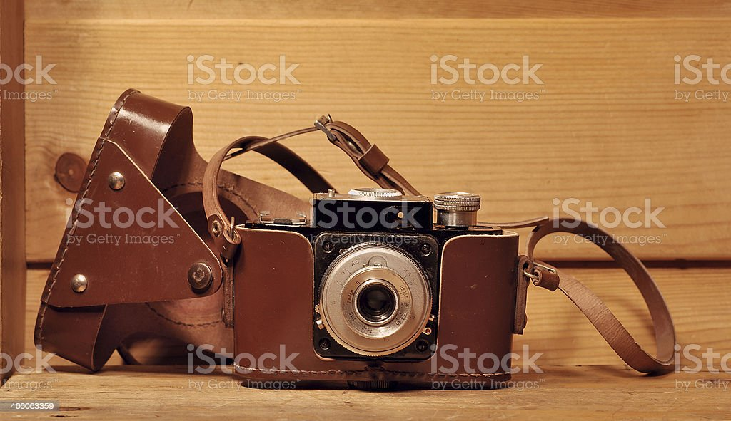 Old style camera stock photo