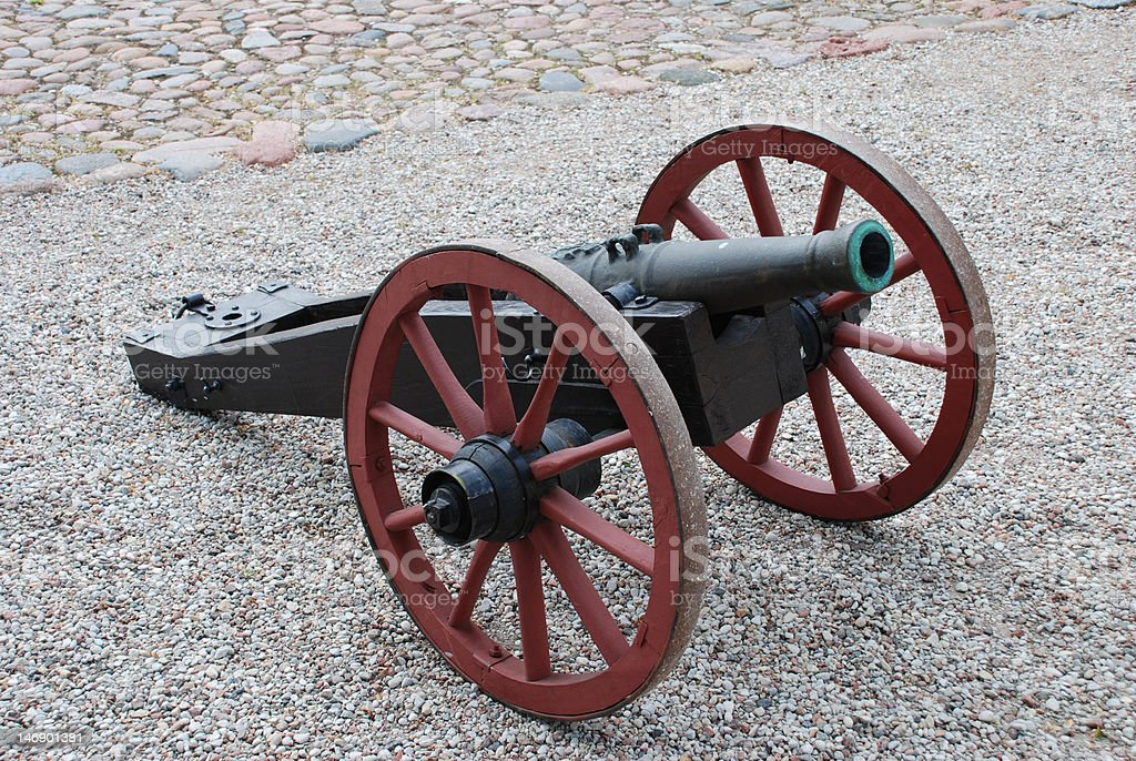 Old style cannon royalty-free stock photo