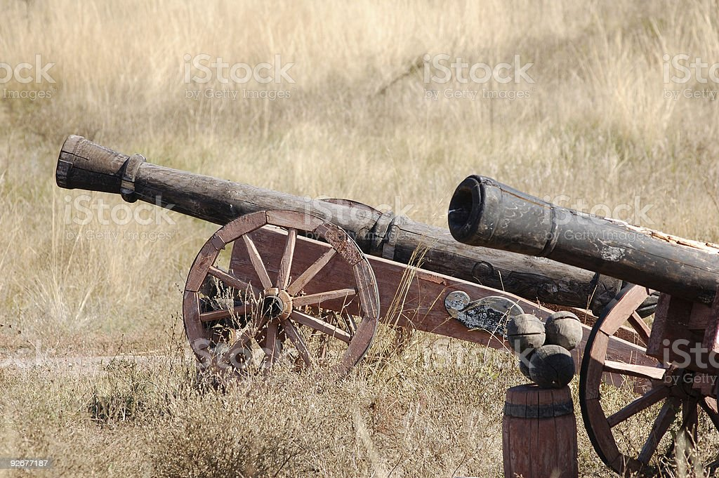 old style cannons royalty-free stock photo
