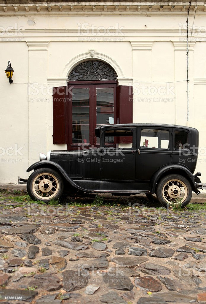 Old Style car stock photo