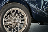 Old style Classic Car wheel.