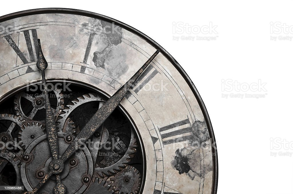 Old style clock stock photo