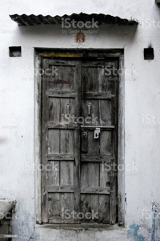 Old style door royalty-free stock photo
