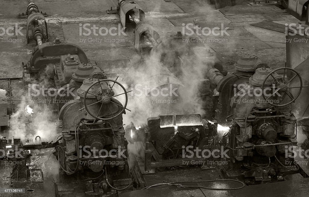 Old style engines stock photo