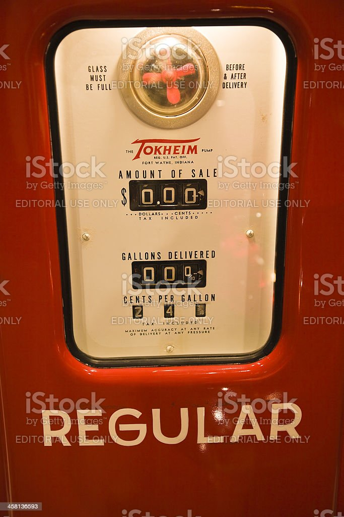 Old style fuel pump royalty-free stock photo