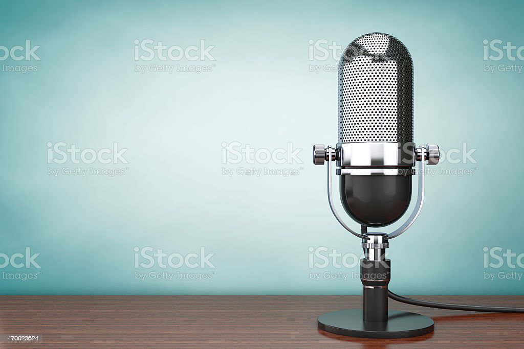 Old Style hoto. Retro Microphone stock photo