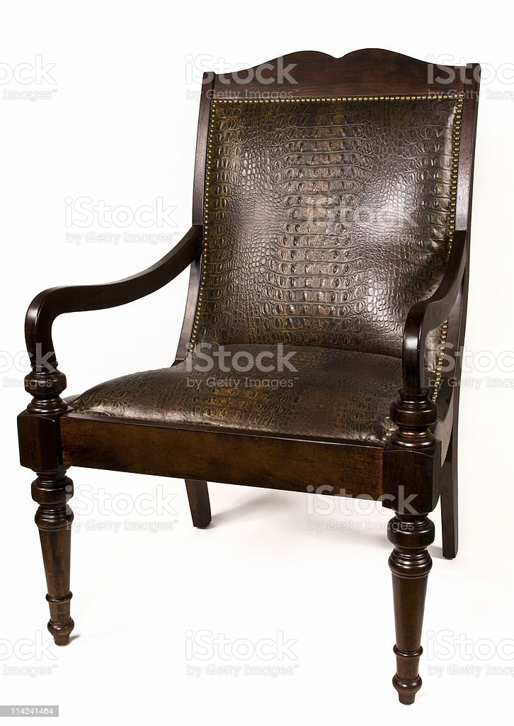 Old Style Leather Chair royalty-free stock photo