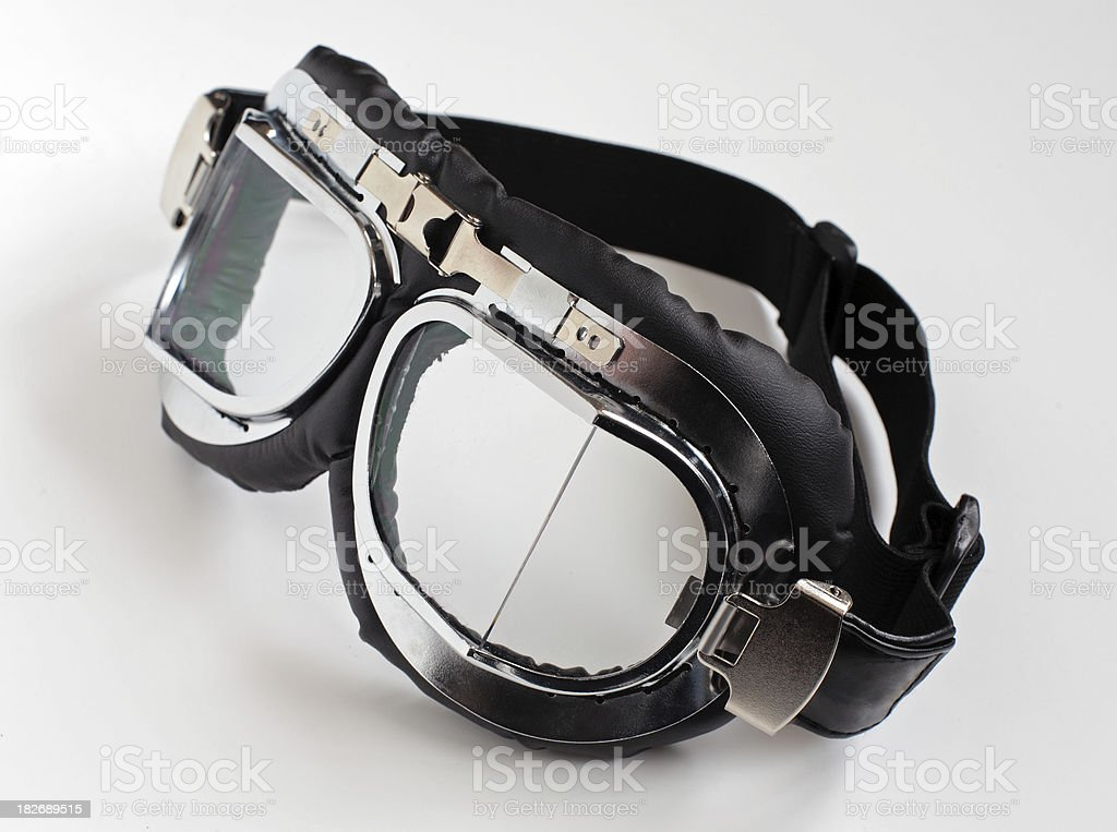 Old style motorcycle goggles 2 royalty-free stock photo