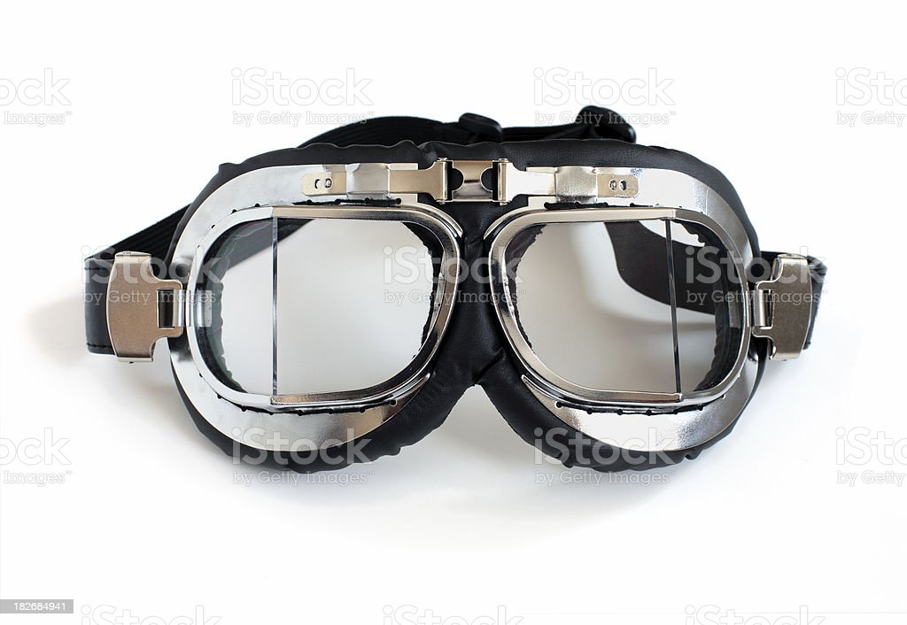 Old style motorcycle goggles royalty-free stock photo
