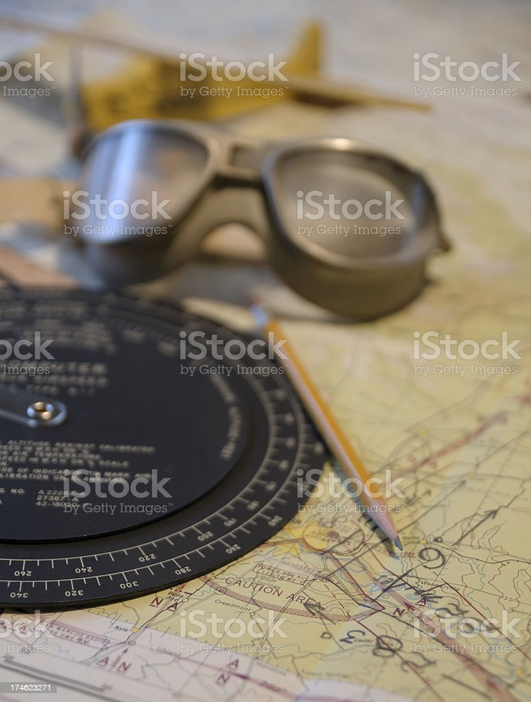 Old Style Navigation royalty-free stock photo